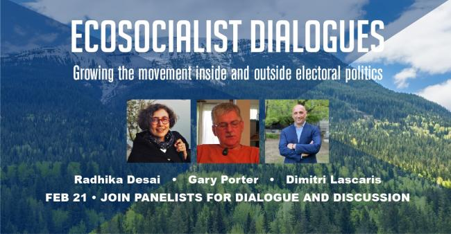 Ecosocialist Dialogues Growing the movement inside and outside electoral politics