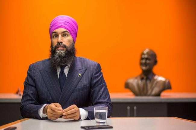 By ceding the climate ground to Trudeau, Jagmeet Singh and the NDP are allowing him to wrongly define what climate action looks like, writes Cameron Fenton. File photo by Alex Tétreault