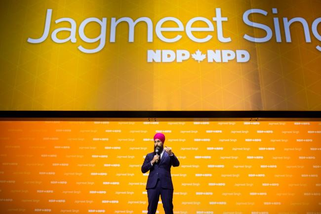On the campaign trail, Jagmeet Singh has promised to end fossil fuel subsidies and has said he opposes Trans Mountain — but has refused to commit to cancelling it if he is elected. File photo by Alex Tétreault