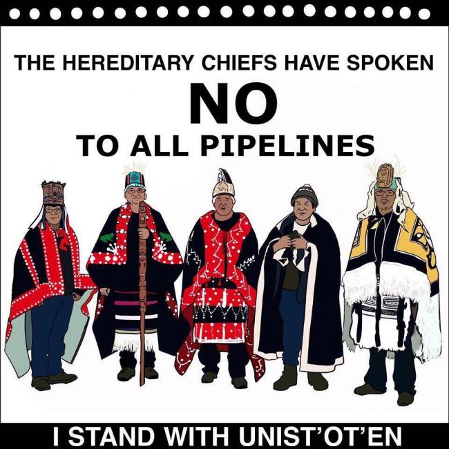 We Support the Unist'ot'en and the Wet'suwet'en Grassroots Movement