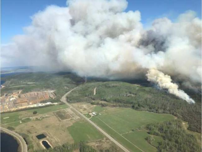 A photo shared by the B.C. Wildfire Service shows the Lejac wildfire burning near Fraser Lake on May 11, 2019. B.C. WILDFIRE SERVICE / HANDOUT / PNG