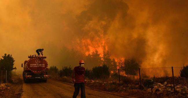 Wildfires raged through Turkey's Mediterranean region in July and August 2021. (Felton Davis / Flickr)
