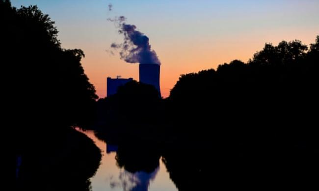 The cooling tower of a coal-fired power plant in Datteln, Germany. Photograph: Ina Fassbender/AFP/Getty Images