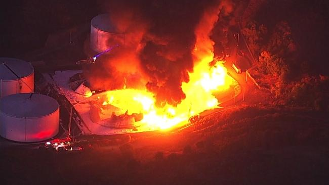 NuStar energy facility fire in Crockett, Calif - https://abc7news.com
