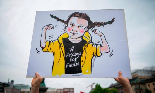 The Swedish climate activist Greta Thunberg addressed British MPs in April. Photograph: Jonathan Nackstrand/AFP/Getty Images