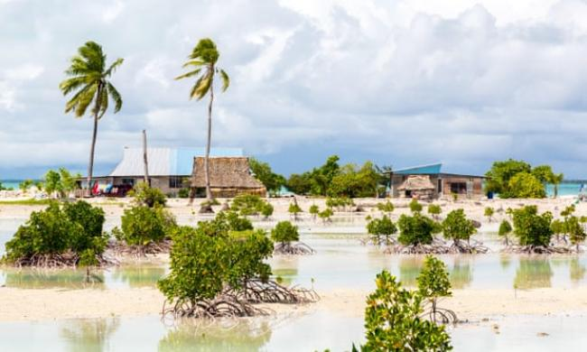 The UN decision relates to the case of Ioane Teitiota, who lived on South Tarawa atoll in Kiribati, one of the most vulnerable nations to climate-related sea level rise. Photograph: Dmitry Malov/Alamy