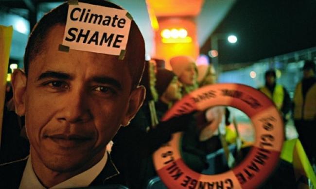 Activists at 2009 Copenhagen Climate Change Conference