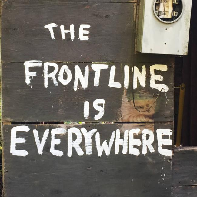 Cover - The Frontline Is Everywhere (in support of Unist'ot'en land defenders)