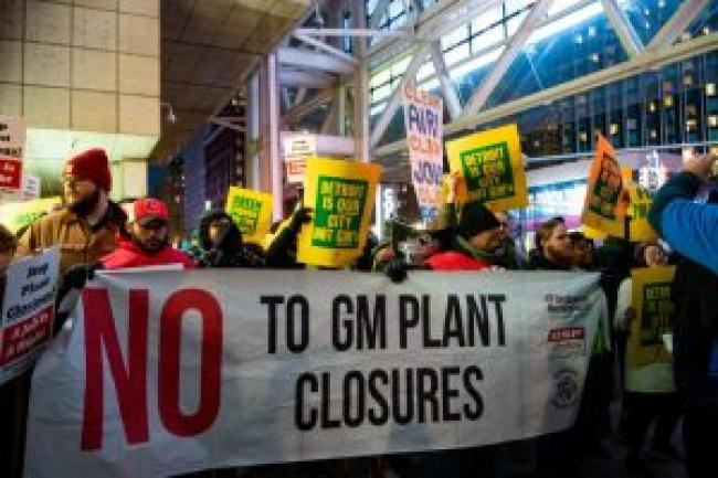 Protest in Detroit demanding a Green New Deal