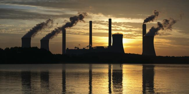 Coal-fired Robert W Scherer Power Plant, one of the nation's top carbon dioxide emitters, in Juliette, Ga., on June 3, 2017.