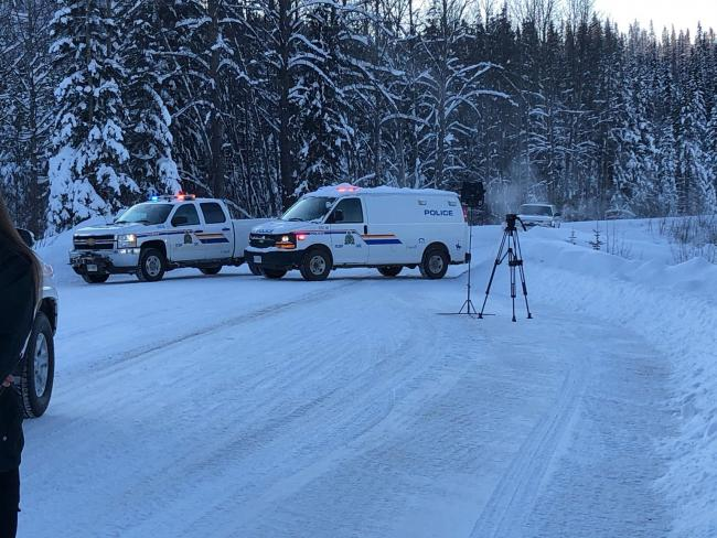 Photo from Facebook page of Wet'suwet'en Access Point on Gidimt'en territory.