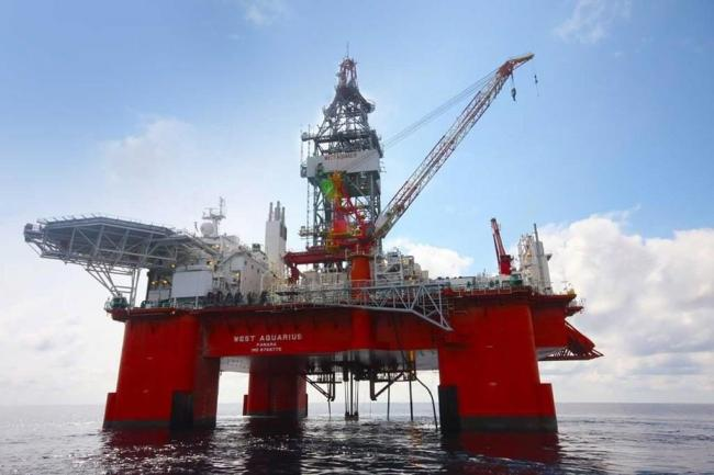 BP Canada reported a spill of about 136,000 litres of drilling mud from its West Aquarius drilling platform on June 22, 2018. Handout photo from BP Canada
