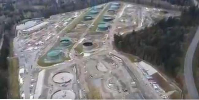 The Burnaby Mountain tank farm. Dogwood BC/Screenshot