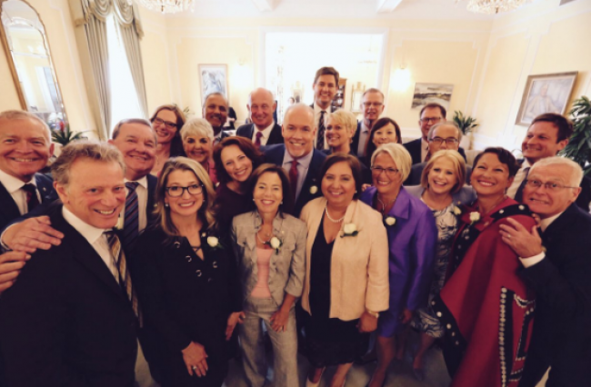 When NDP cabinet ministers were sworn into office in 2017, they didn't anticipate that some of their own supporters would try to prevent them from entering the legislature less than three years later. JOHN HORGAN