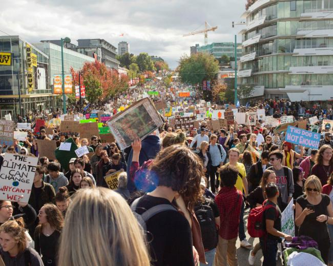 Vancouver's Sept. 27 climate strike in 2019 — a great demonstration of what can happen when people organize and act collectively. Photo by Amy Romer.