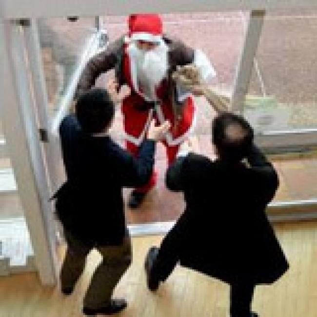Santa delivers lumps of coal