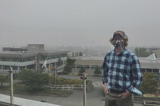 Erik Krogh, co-director of the applied environmental research laboratory (AERL) at Vancouver Island University, says bouts of extremely poor air quality will occur more often as climate change advances. Photo supplied by Erik Krogh.