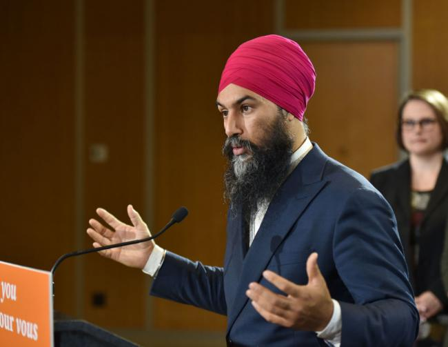 NDP leader Jagmeet Singh on October 20, 2019. (Don MacKinnon / AFP via Getty Images)