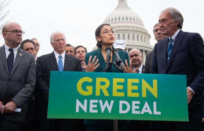 "A new poll suggests many Canadians support the idea of a huge public spending blitz to address climate change, similar to what politicians in the United States like Rep. Alexandria Ocasio-Cortez have dubbed a ""Green New Deal.""  (SAUL LOEB / AFP/GETTY IMAGES FILE PHOTO)"