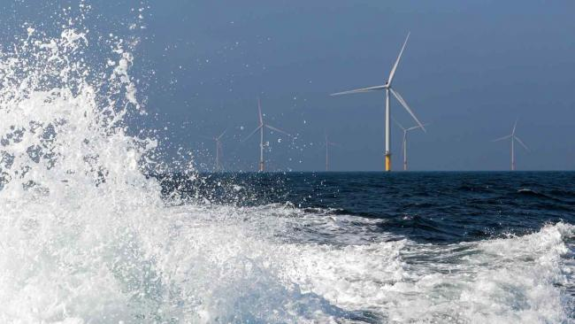 Offshore wind turbines near Amsterdam. Island nation Japan remains slow to build such infrastructure.   © Reuters