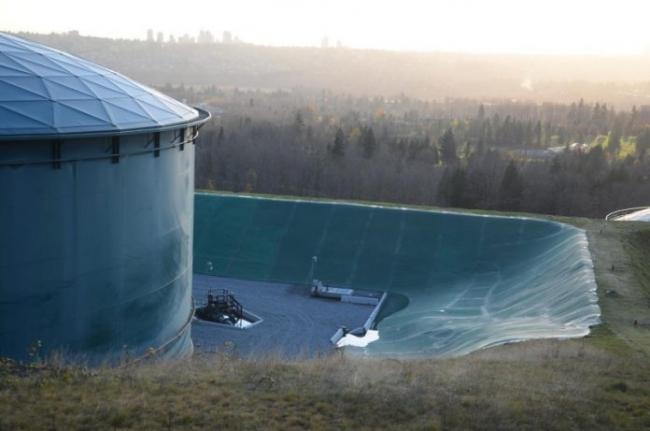 Burnaby Mountain tank farm - Image courtesy of Burnaby Now