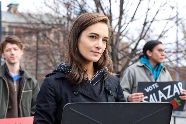 In New York, Democratic Socialist of America–endorsed Julia Salazar was reelected to State Senate. (Photo courtesy Julia Salazar)