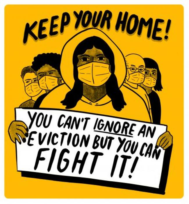 Illustration from the Toronto-based Keep Your Rent campaign.