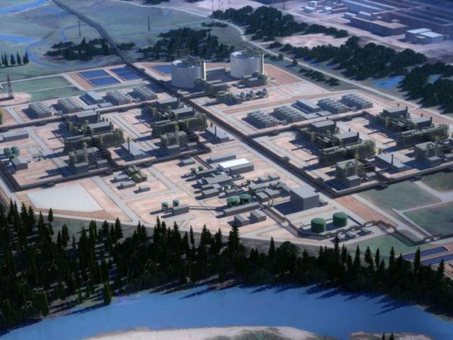 Rendering of the LNG Canada terminus. LNG CANADA / VSUNWP
