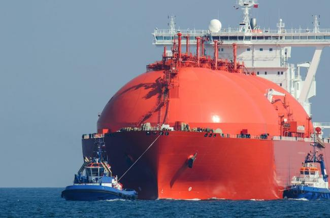Photo of LNG tanker from Shutterstock
