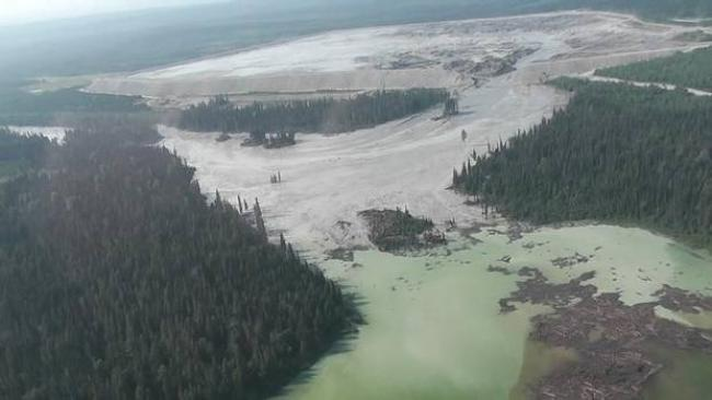"Mining Watch Canaada cited the Mount Polley mine disaster as the ""the worst mining spill in Canada's history."" (Handout/Reuters)"
