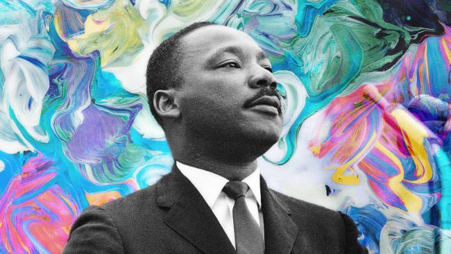Martin Luther King Jr. speaking in Montgomery, Alabama, 1965. [Photo: Stephen F. Somerstein/Getty Images]