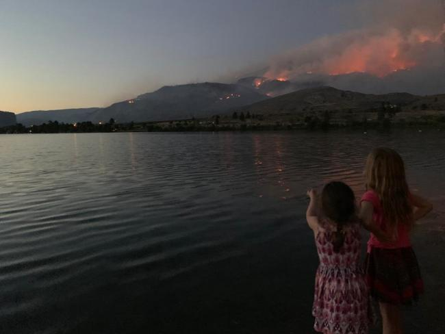A 2019 fire in British Columbia. Photo courtesy of Courtney Howard