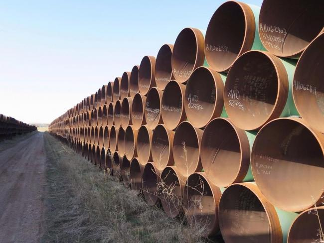 stacks of pipes