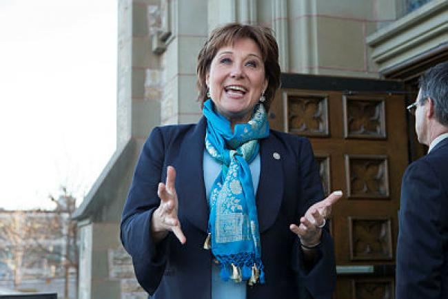 B.C. Premier Christy Clark will be campaigning for re-election in the spring. If she supports Trudeau's move, it will be her provincial Liberals who will first test the post-announcement waters. She could be in for a choppy crossing, writes Chantal Hébert. The Hill Times photograph by Jake Wright
