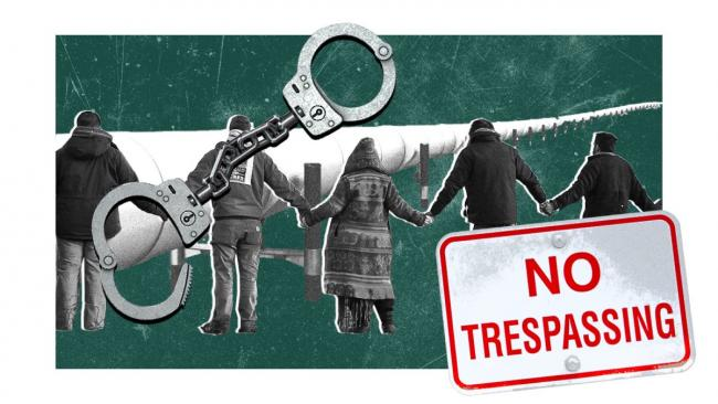 Image - pipeline protest - Grist / Kryssia Campos / spooh / Jessica Rinaldi / The Boston Globe via Getty Images