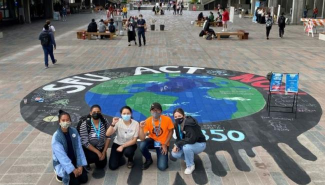 The issue of fossil fuel divestment has been ongoing on the SFU campus, as recently the group SFU350 painted a mural urging the school to take more action on the climate crisis. However, SFU350 is not the group behind the hunger crisis.@SFU350/Twitter