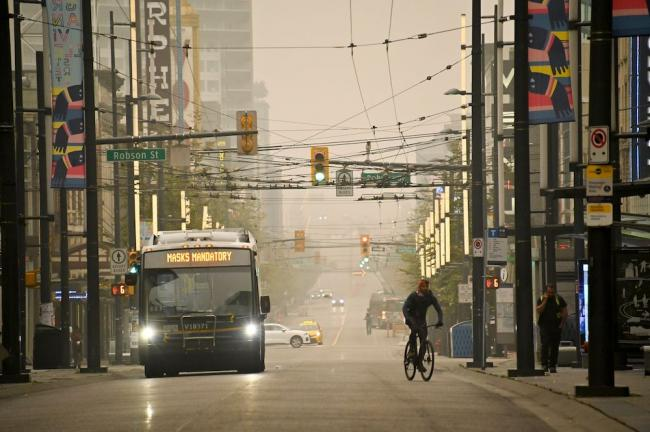 Wildfire smoke that blanketed Vancouver last September was just a warning of the new reality for BC. Photo by Joshua Berson.