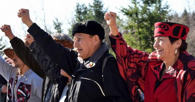 Grand Chief Stewart Phillip has been one of the most vocal critics of Kinder Morgan's Trans Mountain Pipeline Expansion project. COAST PROTECTORS FACEBOOK