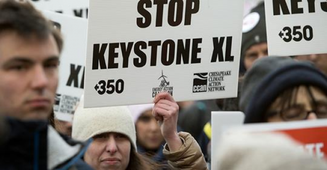 Protest against Keystone XL pipeline