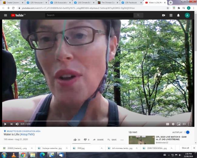 Christine Thuring - Tree Sit Aug. 21, 2020