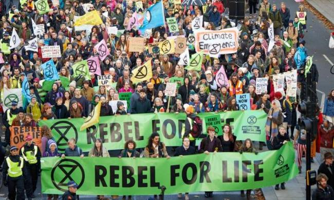 Days of protest by Extinction Rebellion have brought parts of London to a standstill. Credit: Shutterstoc