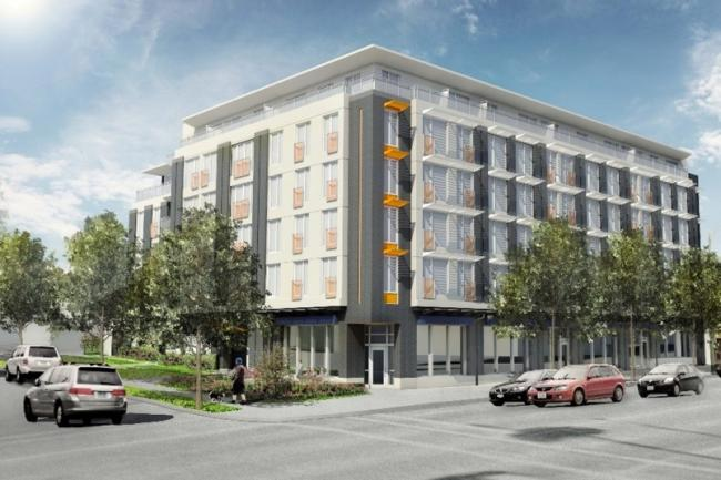 The Heights, an apartment complex, which is aiming for Passive House certification, is expected to open next year.