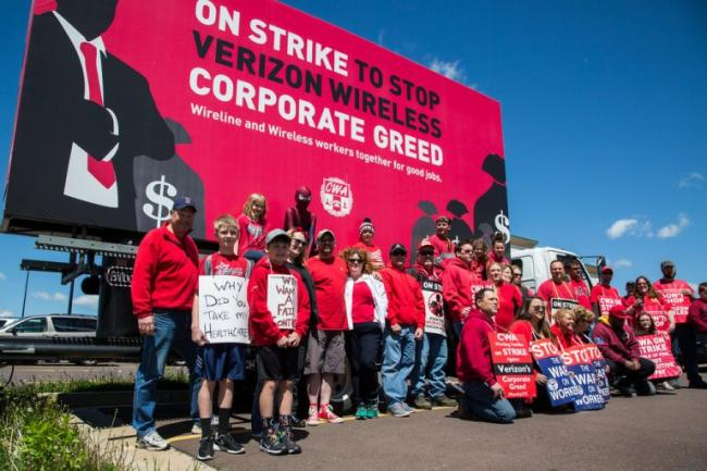 Verizon on strike