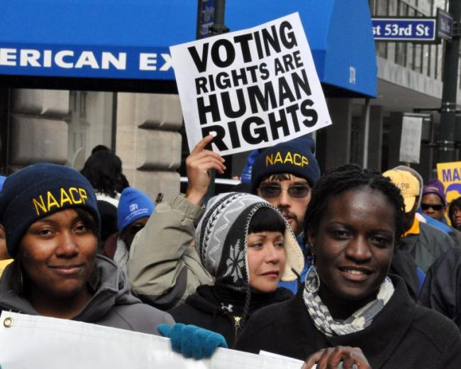Voting Rights Are Human Rights - protest