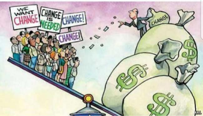We want change!!