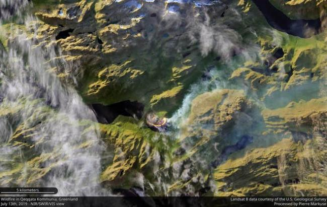 Huge swathes of the Arctic on fire, satellite images show