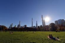 An unseasonably warm day in Central Park last month.Credit...Anthony Behar/Sipa USA/Alamy Live News