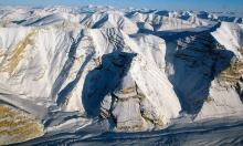 Glaciers on Canada's Ellesmere Island on 1 April 2014. Photograph: Handout/Nasa