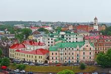 View of Old Town from the Olaf Tower, Vyborg, Leningrad oblast, Russia