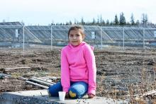 Colette Billy, 9, of Tsi Del Del (Redstone) First Nation and other members of the Tsilhqot'in Nation attended the Tsilhqot'in Solar Farm Celebration held Friday, Oct. 19. Monica Lamb-Yorski photos